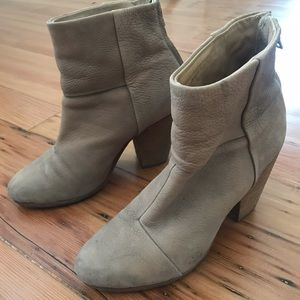 Tan Pebbled Leather Rag & Bone Newbury Boots 38/8